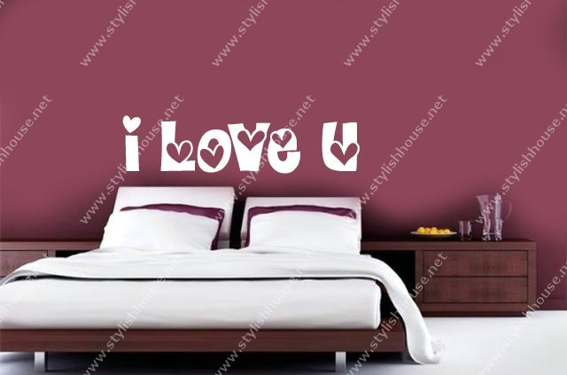 I Love you wall stickers for bedroom walls