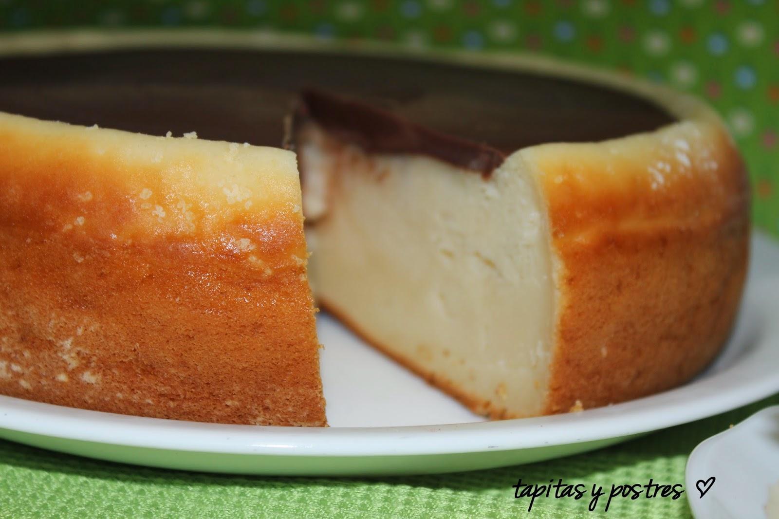 Tarta de queso con cobertura de chocolate 2
