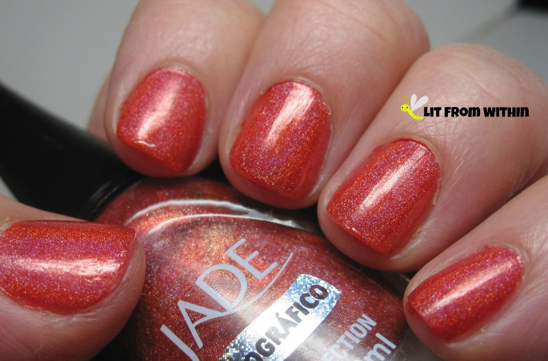 Jade Sunset, gorgeous coral holo.