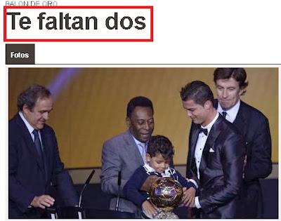 Jornal Argentino provoca Cristiano Ronaldo