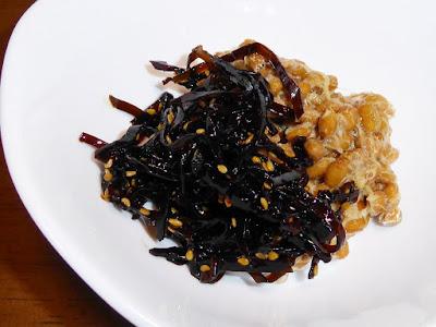 納豆にごま昆布(佃煮)