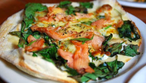 Smoked Salmon and Spinach Pizza