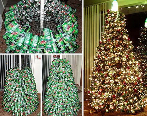 bizarre christmas tree mountain dew