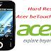 Desbloquear \ Hard Reset Acer beTouch E110.