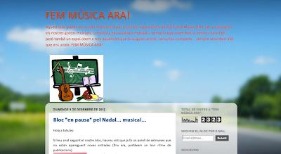 Fem música ara!   Blog del aula de música del CEIP José Mª Oltra de Moncada (Valencia)  en Directoriopax