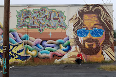 """""""The Dude"""" mural in West Asheville"""
