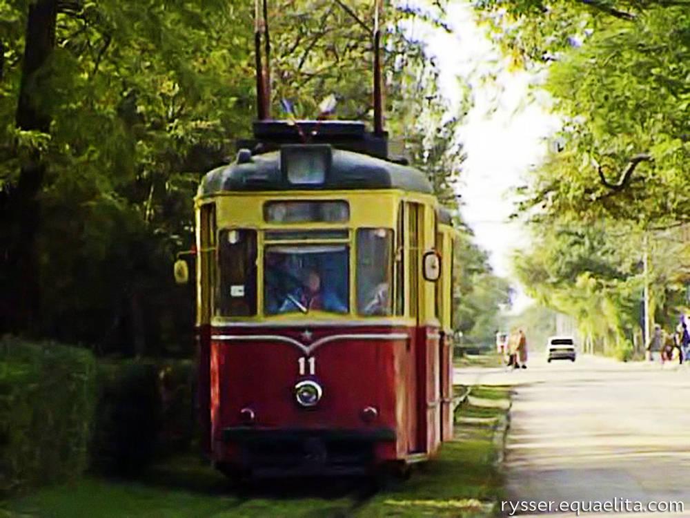 Трамвай в советской Евпатории