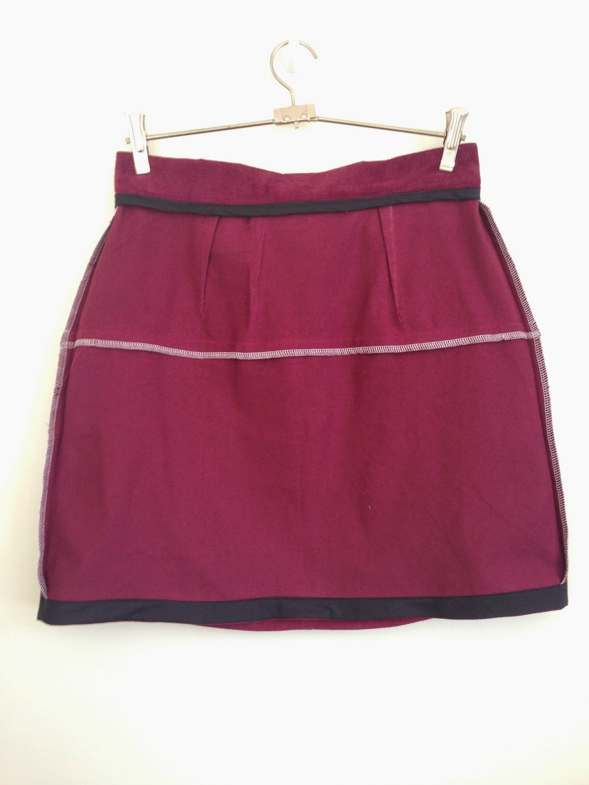 vogue 1247 cord skirt