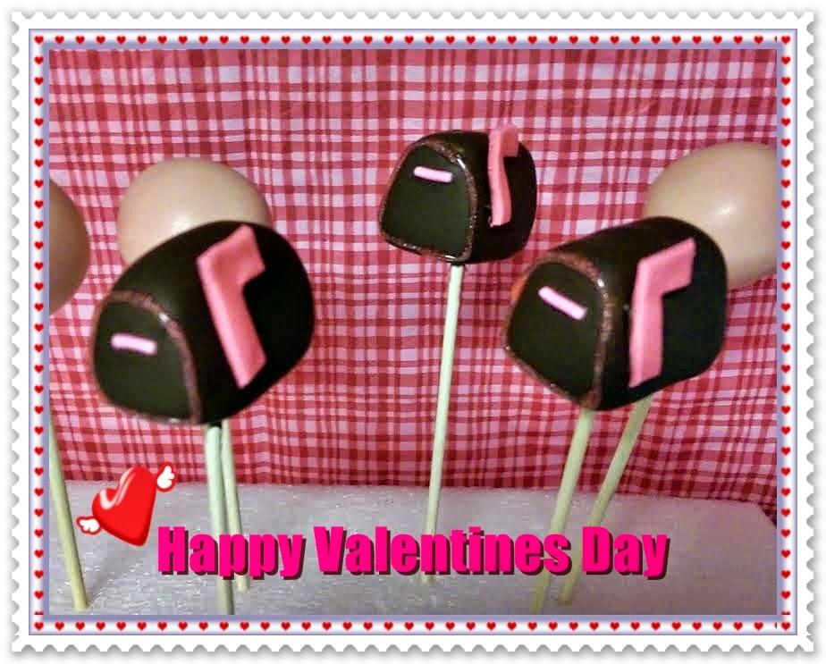 Valentines Day Mailbox Cake Balls