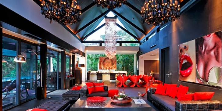 Dark interior of an Amazing contemporary Villa Yin in Phuket