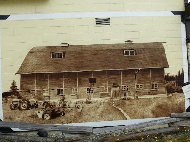 Sooke Agriculture Historium mural - Woodside barn