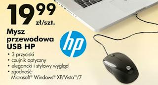 Mysz przewodowa USB HP z Biedronki ulotka