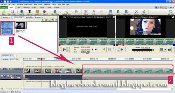 cara memotong dan menggabungkan video