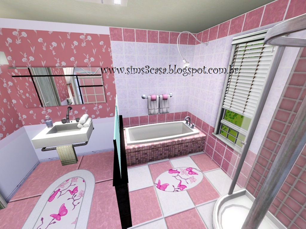 The sims 3  Casas Junho 2012 -> Banheiro Feminino Translation