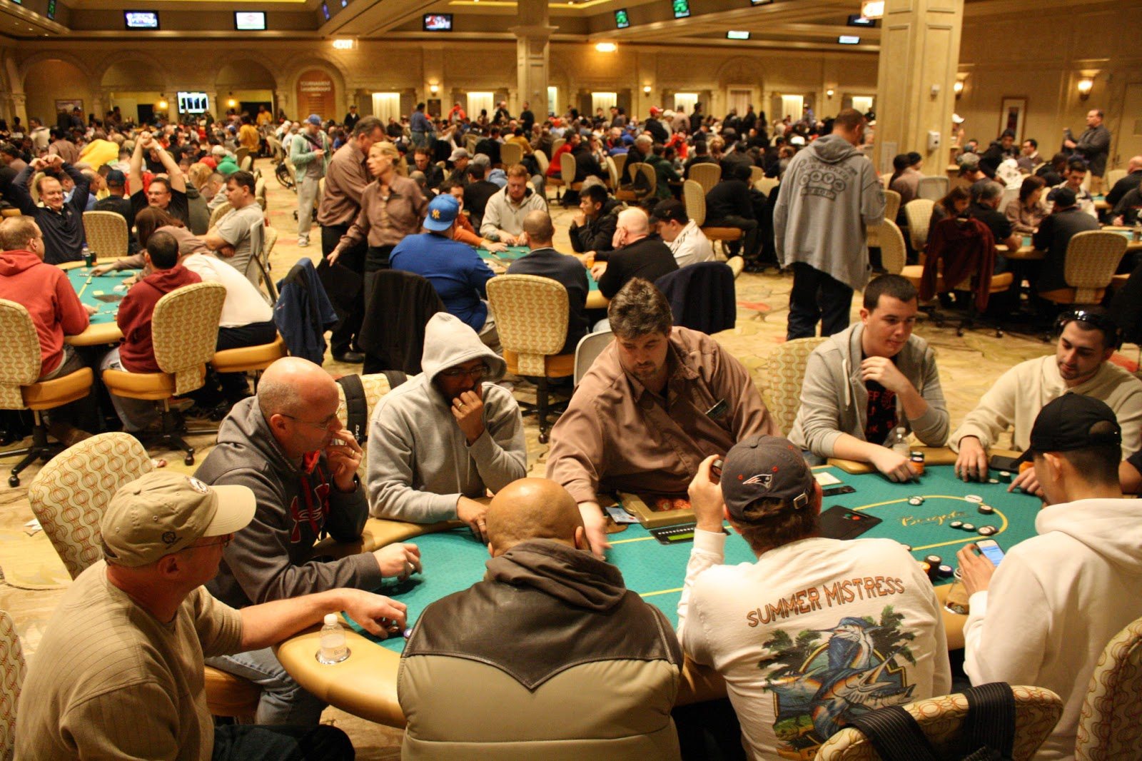 Borgata Winter Poker Open 2013 Event 1 Poker Room Faces