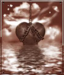 Imagen y poema corazón encadenado