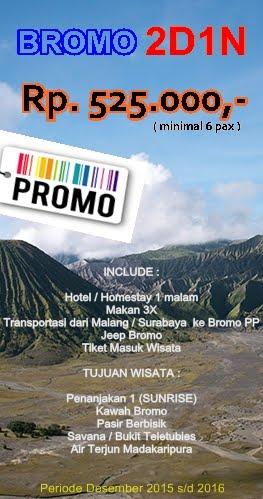 Tour Bromo 2D1N