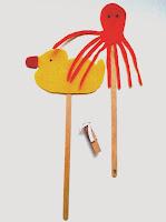 Marionetas de patito de goma y de pulpo ©Selene Garrido Guil