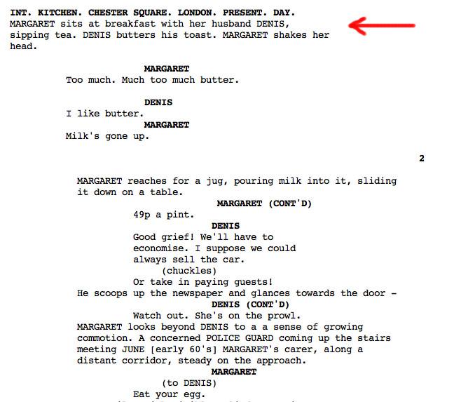 How to write screenplay int dawn