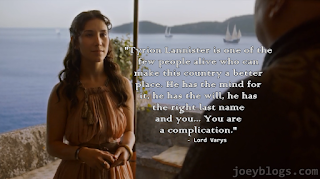 you are a complication game of thrones