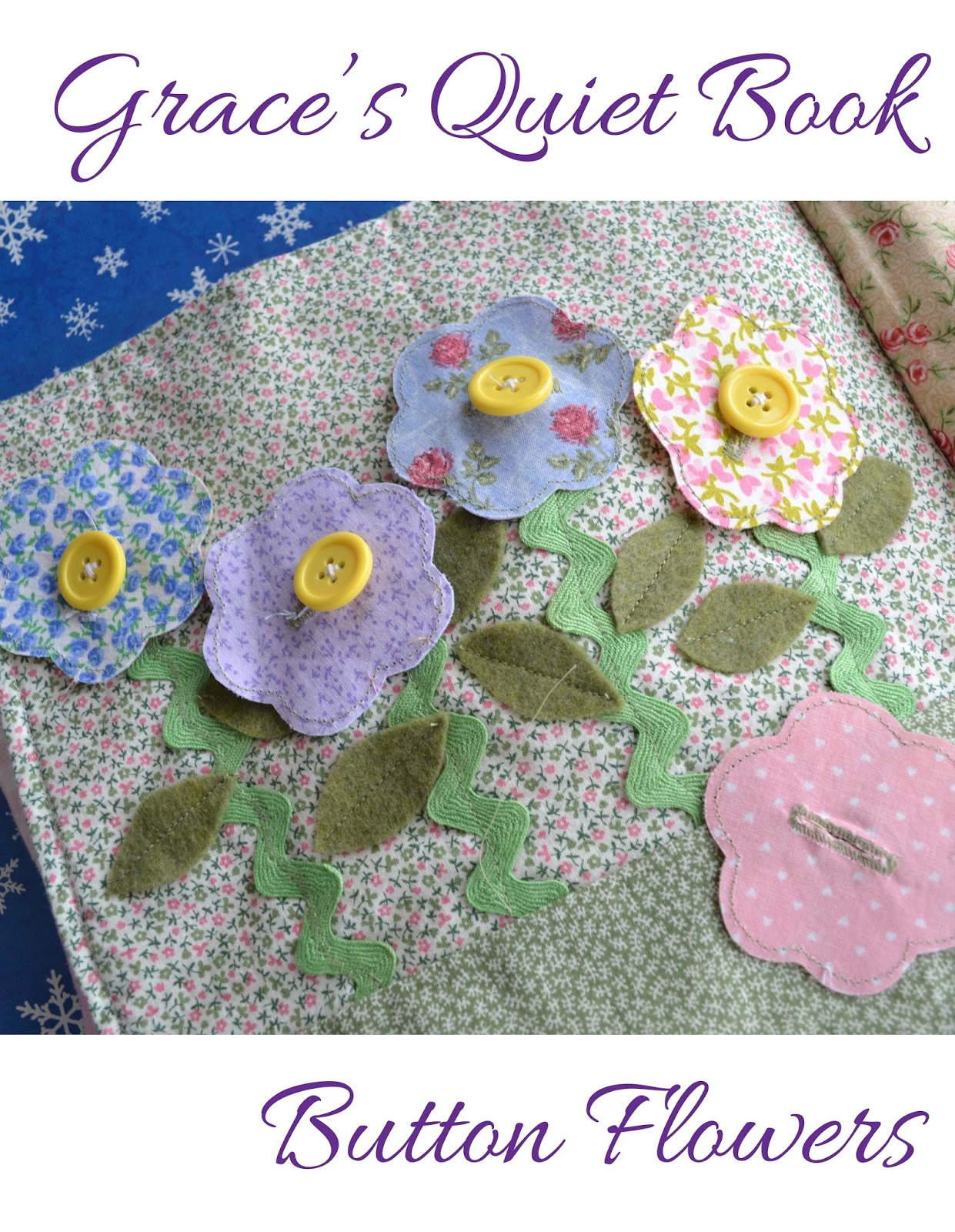 Grace's Quiet Book Button Flowers