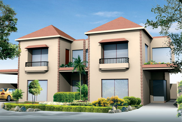 Front Elevation Villas : D front elevation safri villas bahria homes
