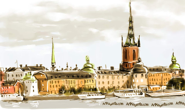 Stocckholm is a sketch by artist and illustrator Artmagenta