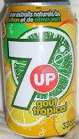 7UP tropical - băutură răcoritoare carbogazoasă cu extract de lămâie și lime