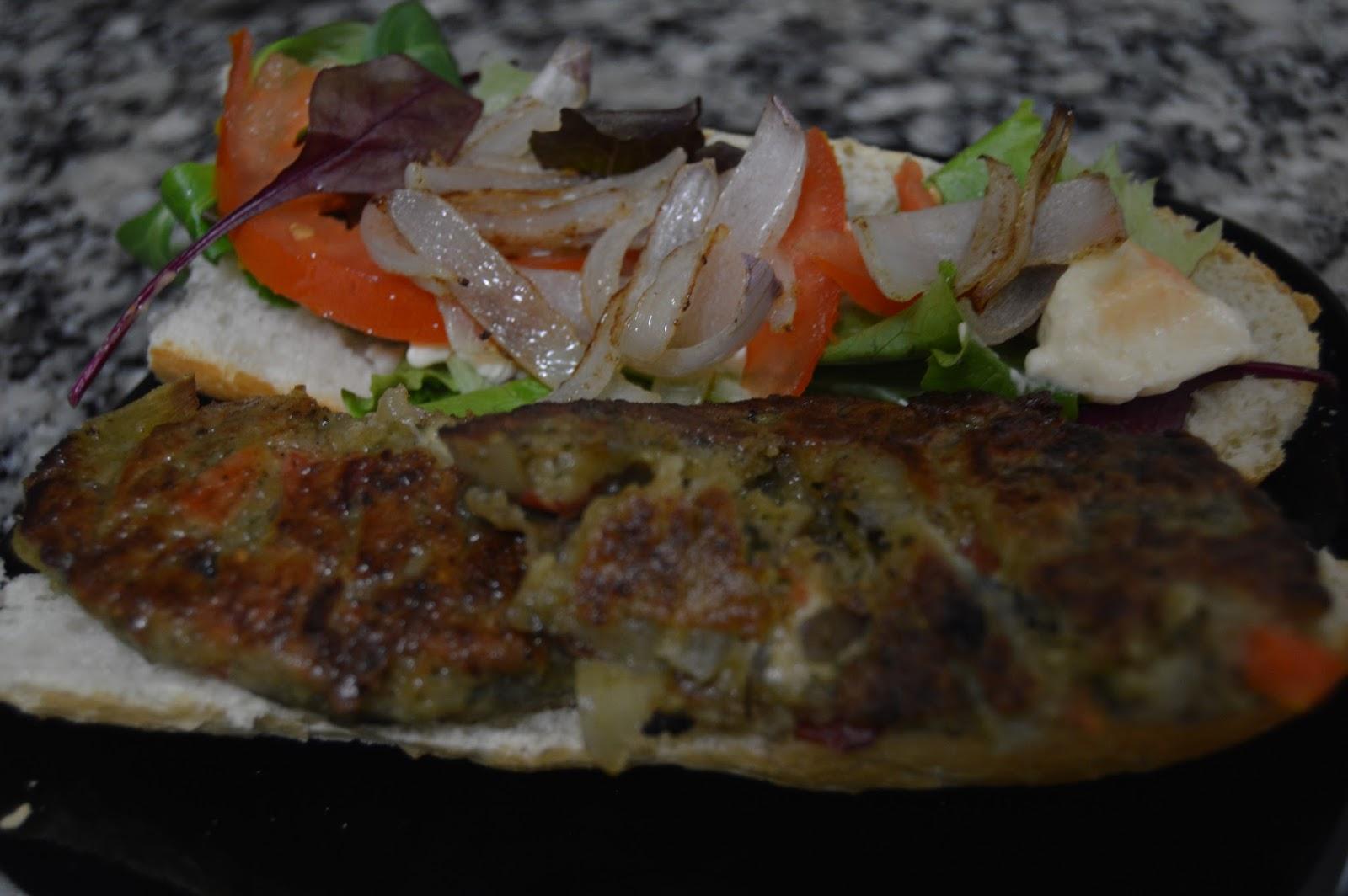 Las recetas veganas hamburguesas de verduras - Hamburguesa de verduras ...