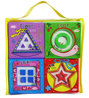 TOY BOOKS FOR SHAPES: Circle, Triangle, Star and Square.