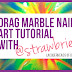 Nail art tutorial: Drag Marble