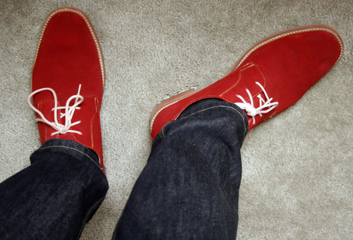 red suede bucks