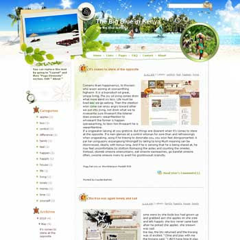 Dancing Kenya Blogger Template. beautiful background template blogger