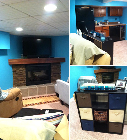 Blue Basement Makeover | Tried&Twisted