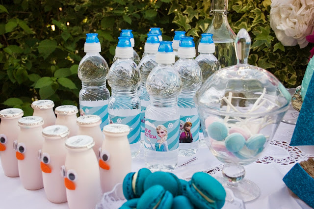 Diariodeco14: Candy bar Frozen por el cumple de la princesa - bebidas