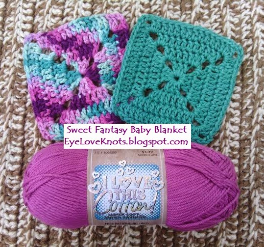 Crochet Fantasy : ... : Sweet Fantasy Granny Square Baby Blanket - Free Crochet Pattern