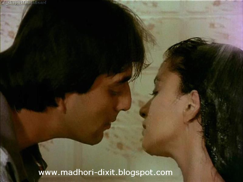 Madhuri Dixit Kiss Scene