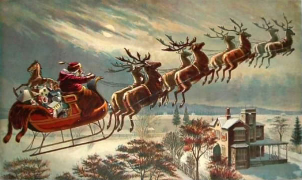 steuben county indiana through the years santa and his reindeer