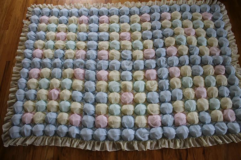 пошаговое фото коврика из помпонов
