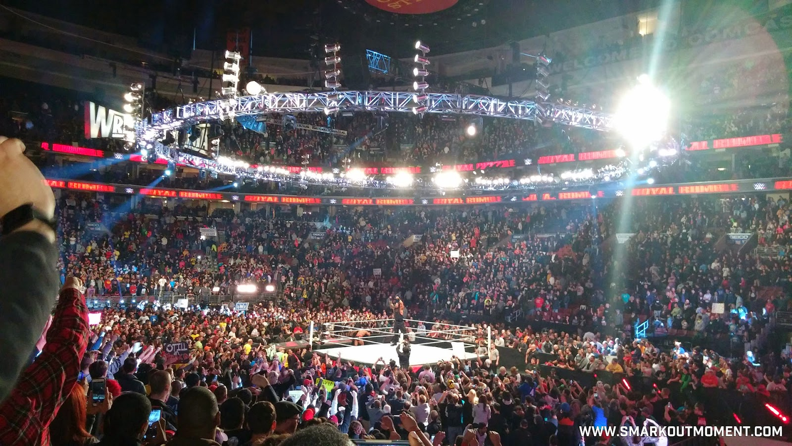 WWE Royal Rumble 2015 celebration Roman Reigns