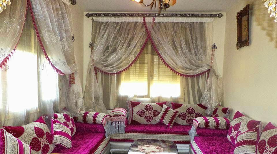 salon marocain salon marocain courtois rose. Black Bedroom Furniture Sets. Home Design Ideas