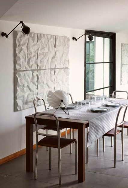Zig Zag Gris le Jacquard francois. Mantel, camino de mesa y servilletas