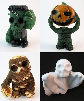 Halloween 2012 Resin Figure Series by Motorbot - Frank, Jack, Mike & Ghost