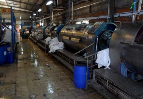 Garment washing plant in Bangladesh