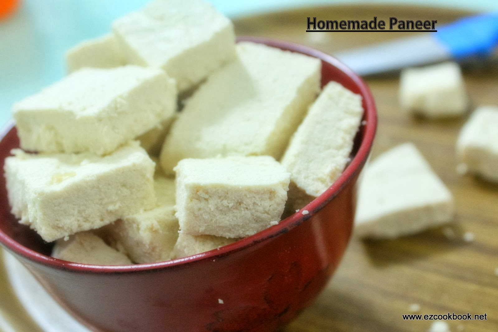 Homemade Paneer | How to make Indian Cottage Cheese | EzCookBook