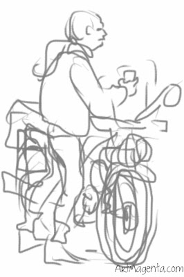 Moped, gesture drawing by ArtMagenta