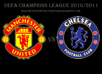 Champions league quarter final Manchester United v Chelsea