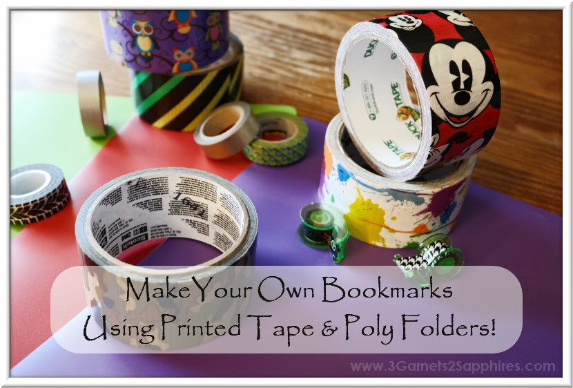 DIY Personalized Duck and Washi Tape Poly Bookmarks - Free Printable Templates