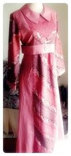 Model baju batik muslim modern