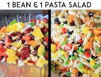 1 bean salad & 1 pasta salad | www.mountaintopchef.blogspot.com